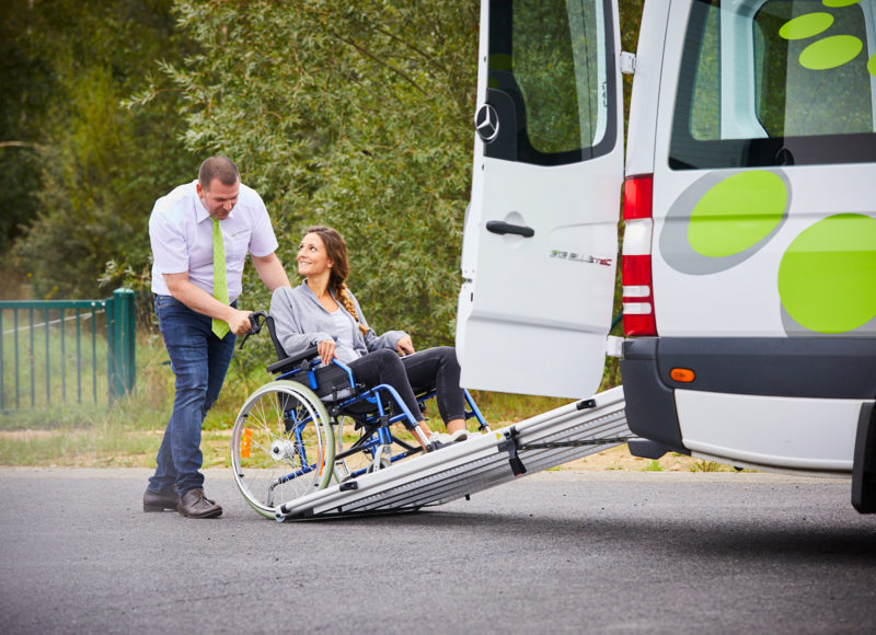 Adapted for people with reduced mobility