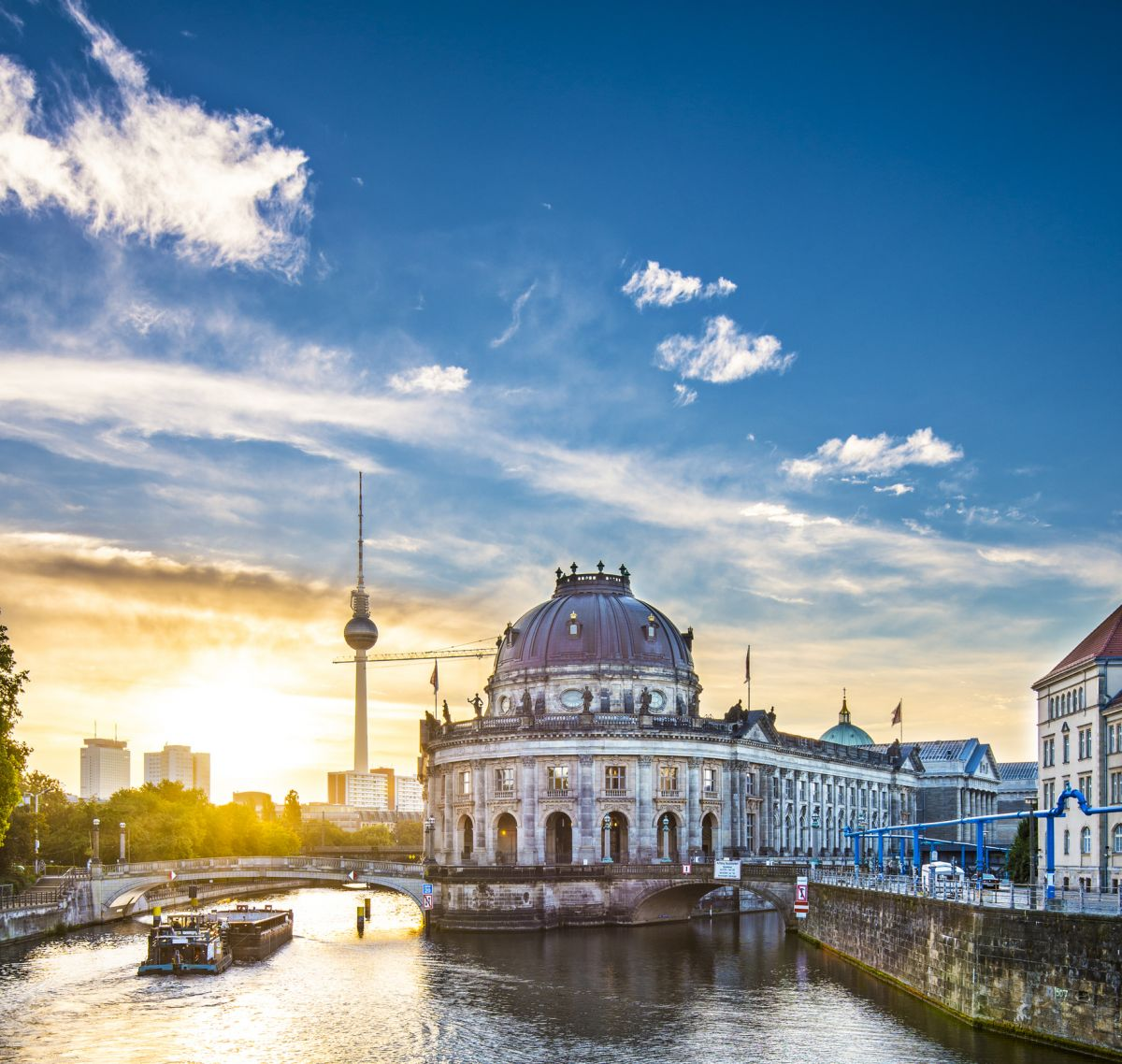 Museum Island and Television Tower in Berlin